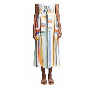 ANTHROPOLOGIE Whit Pocket Striped Skirt Size 6